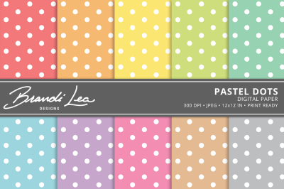 Pastel Dots Digital Paper Pack