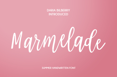 Marmelade summer font
