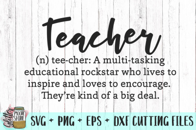Teacher Definition SVG PNG DXF EPS Cutting Files