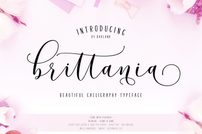 New! Brittania | 5 Font | 20% Off