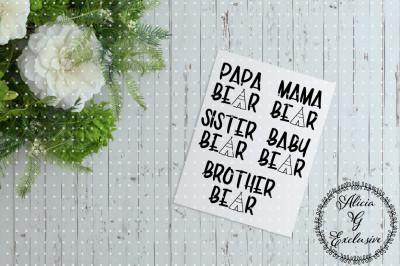 Family Bear Set 1