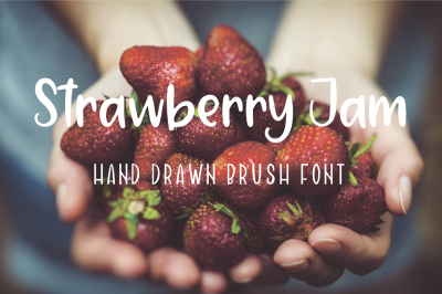 Strawberry Jam. Brush Font.