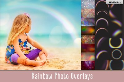 Rainbow overlays and textures