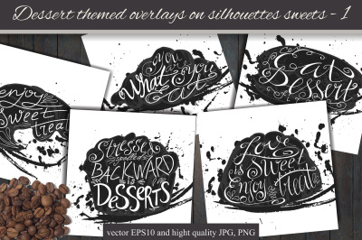 Dessert themed overlays - 1