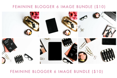 Feminine Blogger 6 Image Bundle