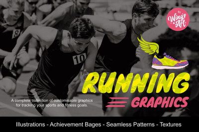 Running Achievement Logos and Graphics
