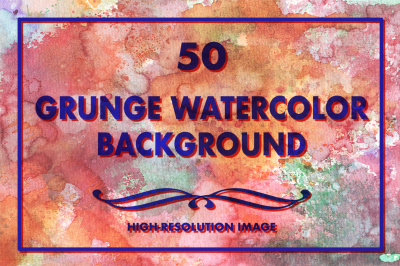 50 Grunge Watercolor Backgrounds