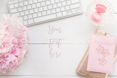 Pink Peonies and Macaroon desktop