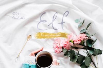 Elf—handwritten font