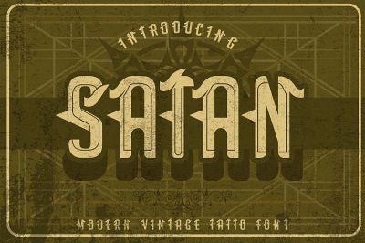 Satan - Modern Tattoo Font