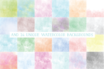 24 Watercolor Backgrounds