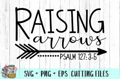 Raising Arrows SVG PNG DXF EPS Cutting Files