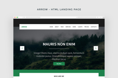 Arrow - Multipurpose HTML Landing Page