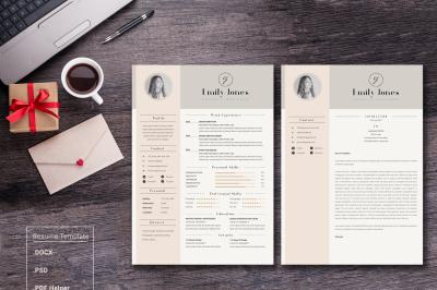 Professional & Modern Resume/ CV-Cover Letter Template *C