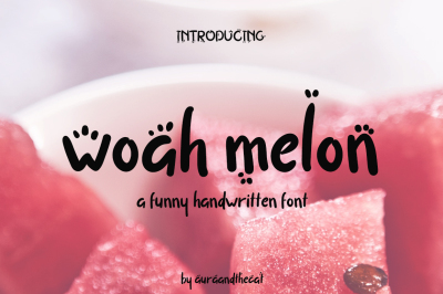 Woah Melon font