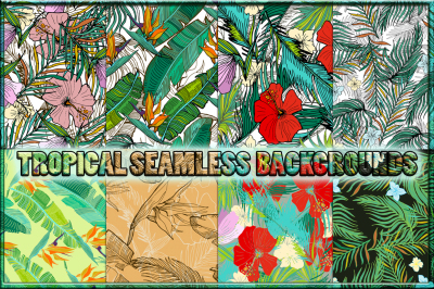8 Tropical seamless patterns.