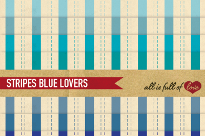 Blue Stripes Paper Pack with retro backgrounds