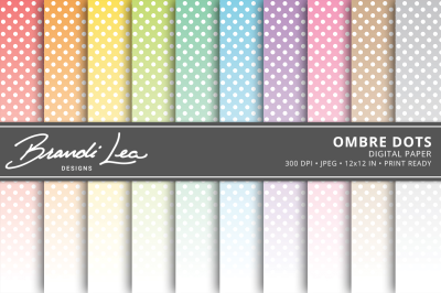 Ombre Dots Digital Paper Pack