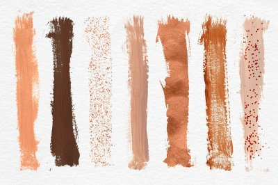 Copper Brush Strokes Clipart