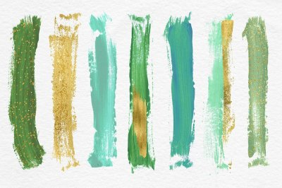 Greenery Brush Strokes Clipart