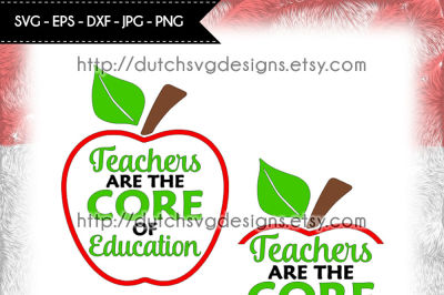 Text cutting file Teacher, in Jpg Png SVG EPS DXF, for Cricut & Silhouette, teacher svg, apple svg, cricut svg, education svg, school svg