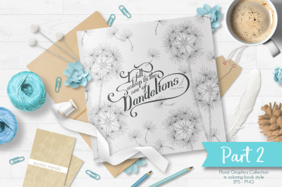 Delicate floral graphics - Sea of Dandelions (Part 2)