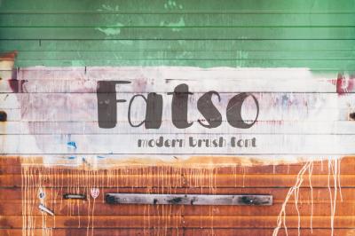 Fatso—handwritten font