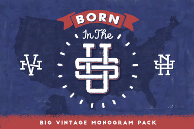 Born in the U.S • Vintage Monogram Set