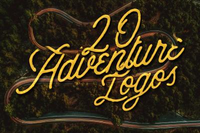 20 Adventure Logos Pack