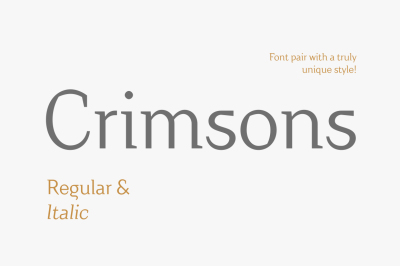 Crimsons — Regular & Italic