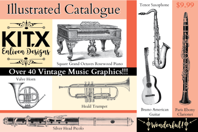 Music Instruments Vintage Graphics