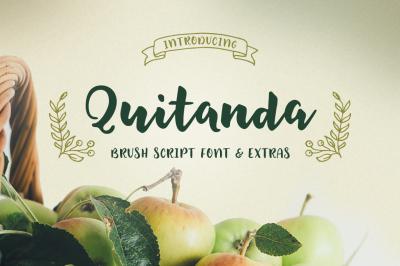 Quitanda - Brush Script Font & Extras
