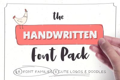 Handwritten Font Pack & Extras