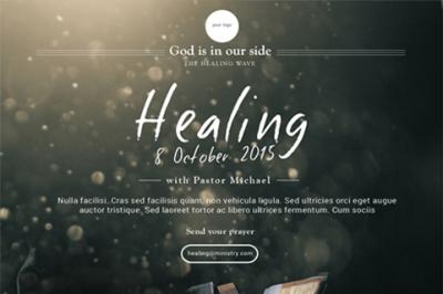 Healing Church flyer