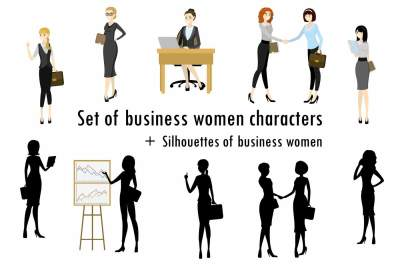 Business women characters