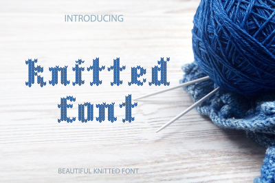 WINTER SALE! Knitted font