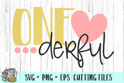Onederful SVG PNG EPS Cutting Files