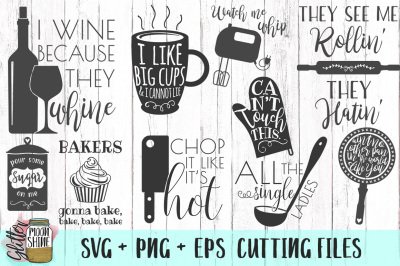 Kitchen Design Bundle SVG PNG DXF EPS Cutting Files