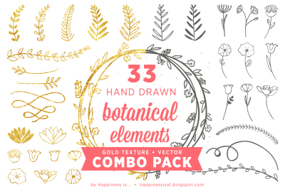 Botanical Elements Gold Combo Pack