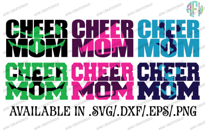 Cheer Mom - SVG, DXF, EPS Cut File