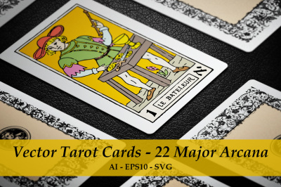 Vector Tarot Cards - 22 Major Arcana