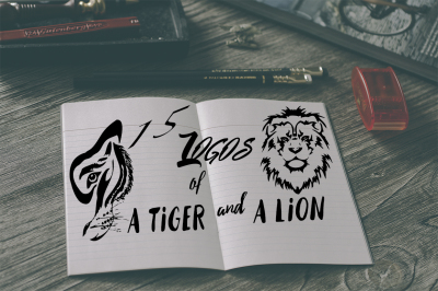 Lion and tiger logo