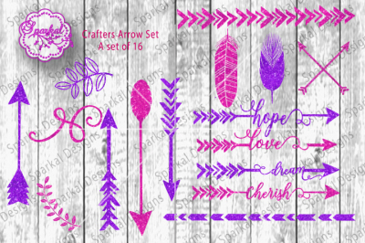 Trending Arrow SVG/DXF Cut File Bundle