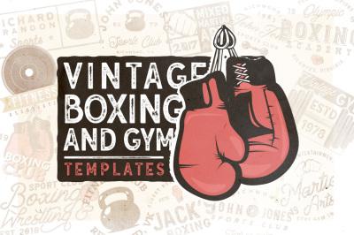 20 Vintage Boxing & Gym Logos