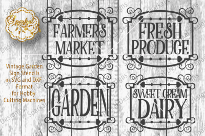Vintage Garden SVG/DXF Cutting File