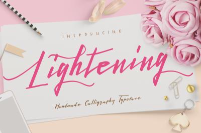 Lightening Script - Font Duo
