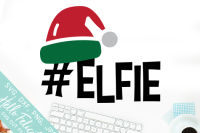 Christmas Elfie SVG Cutting Files