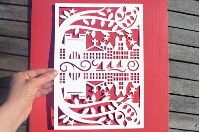 Street Paper Cut SVG / DXF / EPS Files