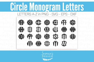 Monogram Letters SVG Circular