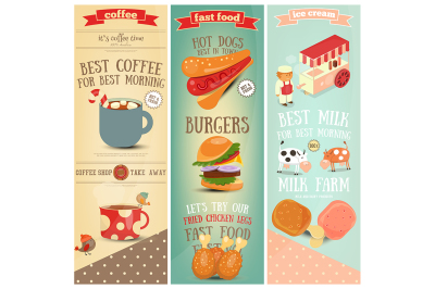 Coffee, Fast Food, Ice Cream Banners